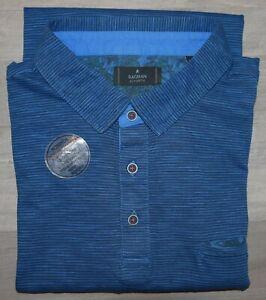 "RAGMAN ""Authentic"" Poloshirt Polo Kurzarm Polohemd Gr. XXL/56 blau gestreift"