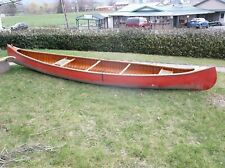 Vintage Peterborough Canoe Co Wood Canvas Made in Canada 1954 75th Anniversary