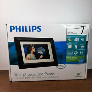 Philips Digital LCD PhotoFrame Home Essentials 7 inch Black Frame Pictures