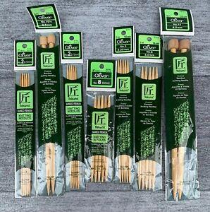 LOT 3 CLOVER bamboo knitting needles