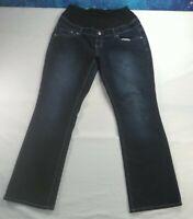 Women's Maternity Jeans Size XL Tala Straight Dark Wash Blue Denim Extra Large