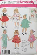 New Pattern 2454 Doll Clothes Retro Wardrobe fits 16 and 18 inch American Girl