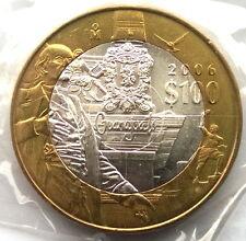 Mexico 2006 Miguel Hidalgo 100 Pesos Bimetal Silver Coin,UNC