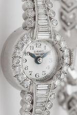 Antique 1940s Girard Perregaux $12,000 3ct VS G Diamond Platinum Ladies Watch