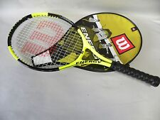 "Wilson Titanium Soft Shock Energy Tennis Racquet Racket 4 1/4"" With Cover (A10)"