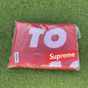 """Supreme """"Known As"""" Beach Towel Red SS20 *Deadstock* Brand New"""
