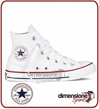 SCARPE TELA CONVERSE ALL STAR HI CANVAS TG. 43 ALTE BIANCHE SHOES M7650 US 9,5