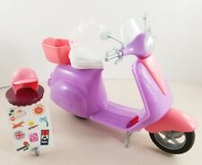 NEW Pink Passport Barbie Ken Doll Motorcycle Bike Helmet Vehicle Scooter
