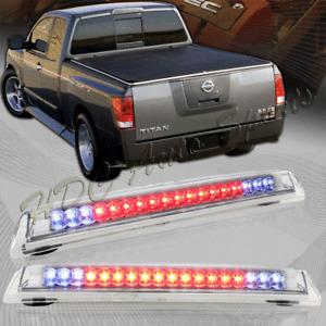 For 04-15 Nissan Titan Chrome Housing LED Rear Stop 3RD Third Brake Cargo Light