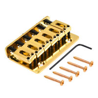 Gold 6 String Saddle Fixed Type Bridge For Strat Guitar Parts W/Screws Wrench