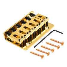 Electric Guitar Bridge Tailpiece for Strat ST Part Top Load Fixed Type Gold 73mm