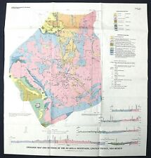 Usgs Gold Placers Lincoln Co New Mexico Vintage 1974 Map Jicarilla Mountains