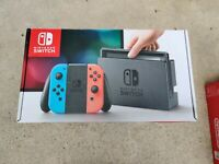 NINTENDO SWITCH EMPTY BOX ONLY - Red & Blue, Console Not Included with inserts.