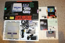 Super Nintendo System Console Complete In Box SNES #SNW3 w/ Mario World GREAT