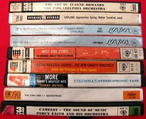 """LOT (9) 7"""" REEL TO REEL FACTORY TAPES + BOXES~ALL CLASSICAL EASY GREATS~LOT # 4"""