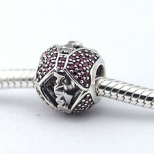 Crystal Minnie Bows Pave .925 Sterling Silver European Charm Bead