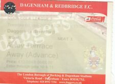 Ticket - Dagenham & Redbridge v Brentford 01.01.08