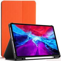 Apple iPad Pro 12.9 2020 Case, Cover, Stand, Smart Auto Sleep Wake - Orange