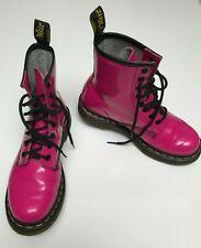 Dr. Martens 1460 W HOT PINK Patent Boots - Women 6