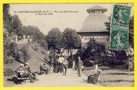 cpa 65 - CAPVERN-les-BAINS (Htes Pyrénées) PARC de l'Établissement THERMAL animé