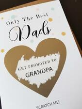 Pregnancy announcement card dad get promoted to grandpa grandad PA36