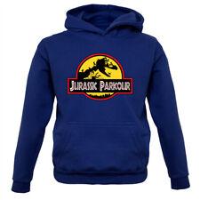 Jurassic Parkour - Kids Hoodie Free Running Sport Fitness Run Exercise