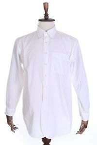 Men's ENGINEERED GARMENTS New York White 100% Cotton Officer Shirt Size s