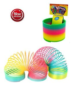 Rainbow Color Neon Colours Magic Spring Slinky Slinkie Psychedelic Kids Toy