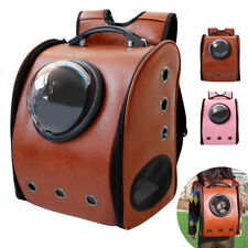 Pet Carrier Travel Bag Leather Space Capsule Dog Cat Backpack Airline Approved
