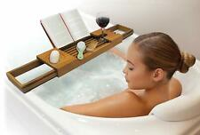 Teak Water Resistant Bath Tub Caddy by Ginsey Home Solutions