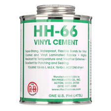 RH Adhesives Industrial Strength HH-66 Vinyl Cement Glue w/ Brush, 16 oz, Clear