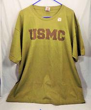 MENS 2X USMC T-SHIRT GREEN U.S.Military MARINES CLOTHING GEAR PRESHRUNK GIFT