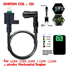 Motorcycle ATV 12V Ignition Coil+5Pin Male Plug CDI Unit Universal For 50-150cc