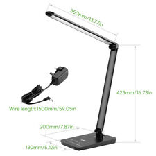 LE 8W Dimmable LED Desk Lamp Touch Sensitive control 500lm table light bedroom