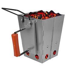 Foldable BBQ Charcoal Chimney Starter Quick Start Grill Lighter Burner Coal Fuel