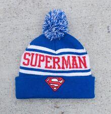 Superman DC Comics Superhero Pom Beanie Warm Winter Hat Knit Ski Cap