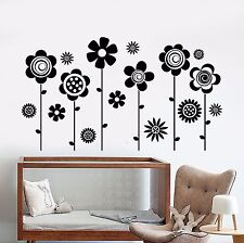 Vinyl Wall Decal Nursery Flowers Garden Nature Girls Room Stickers (933ig)