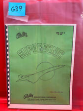 Supersonic Pinball Operations/Service/Repair /Troubleshooting Manual Bally G39