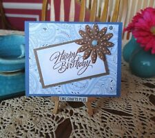 HAPPY BIRTHDAY FLOWER HANDMADE GREETING CARD ~ emc#022
