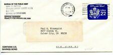 CA-CALIF=LOS ANGELES-Mach.Cxl-Scott #UO75-Bureau of Public Debt-Corner Card-1988