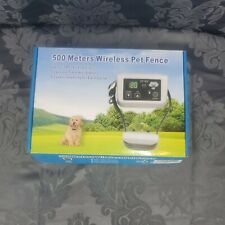 500 Meter Wireless Rechargeable Electronic Pet Fence Waterproof 2 Collar. A3