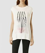 AllSaints Brooke Ombre Vest Top. White. X Small.