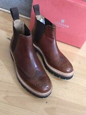 Grenson Allie Tan Hand Painted Leather Womens Chelsea Boot Uk 5, Eu 38