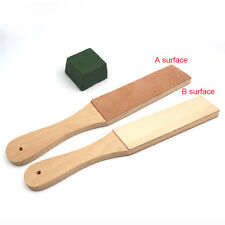 Polishing Compounds & Dual Sided Leather Blade Strop Knife Razor Sharpener Set