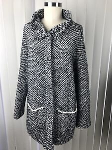 Eileen Fisher Women's Organic Cotton Snap Up Cardigan Sweater Petite PL