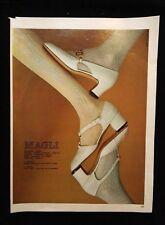 Pubblicita'Advertising Originale Vintage BRUNO MAGLI Scarpe moda calze 1969(A2