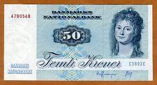 Denmark, 50 Kroner, serie 1972, 1989, P-50h, UNC