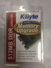 K Byte 512MB DDR3200/2700 PC400 333 MHz 184pin DIMM Laptop Memory RAM