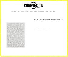 TAKASHI MURAKAMI Skulls & Flower Print White: ComplexCon 2018 Kaikai Kiki Dob
