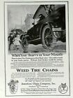 1918 American Chain Co Print Ad - When Your Heart's in Your Mouth - Nov 1918